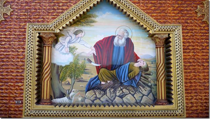 Abraham, sacrifice of Isaac | Church of St. Karas, Sohag, Egypt (c) willemjdewit P1420818