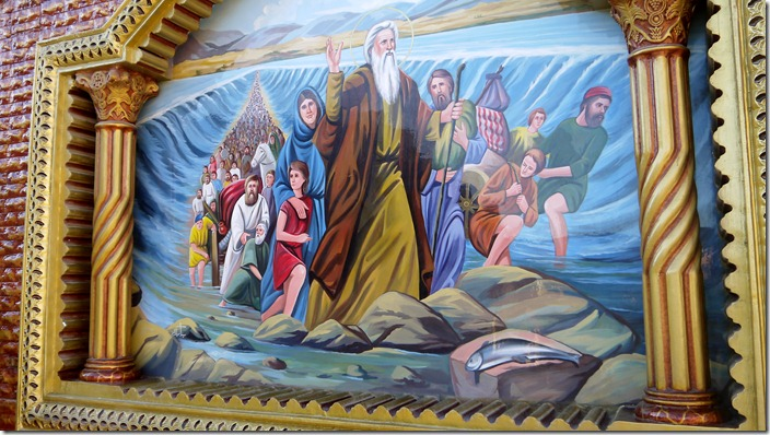 Moses and the crossing of the Red Sea | Church of St. Karas, Sohag, Egypt (c) willemjdewit P1420821