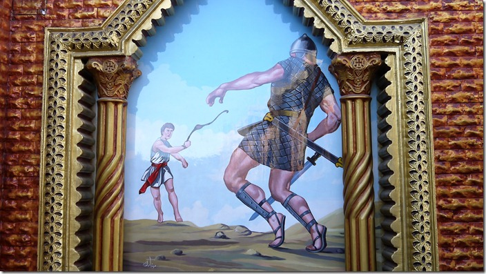 David and Goliath | Church of St. Karas, Sohag, Egypt (c) willemjdewit P1420826
