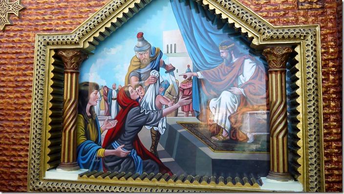 Salomon's judgment | Church of St. Karas, Sohag, Egypt (c) willemjdewit P1420827