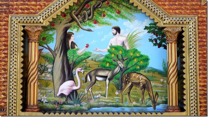 Adam and Eve | Church of St. Karas, Sohag, Egypt (c) willemjdewit P1420856