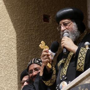 Paus Tawadros spreekt volktoe