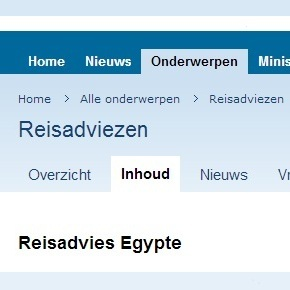 Reisadvies Egypte 1 juli 2013