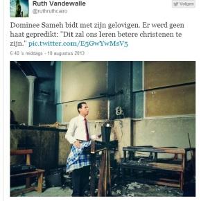 """""""Er werd geen haat gepreekt"""": Bidden in uitgebrande kerk na """"pogrom"""""""