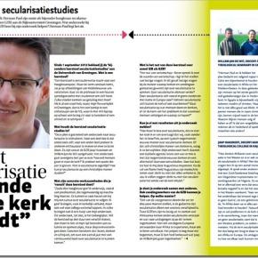 """""""Denk nu niet dat secularisatie het einde van de kerkinluidt"""""""