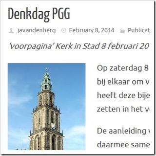 Denkdag PGG dr Sjaak van den Berg