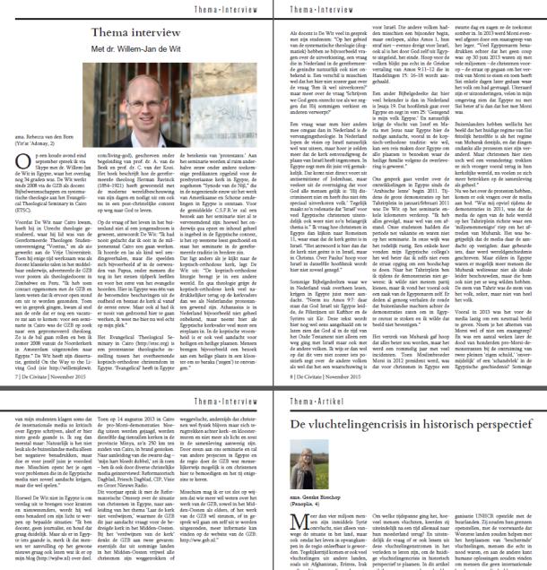 Rebecca van den Born interview Willem-Jan de Wit De Civitate 2015