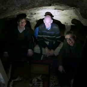 De dominees hebben in de grot van Antonius gebeden voorEgypte