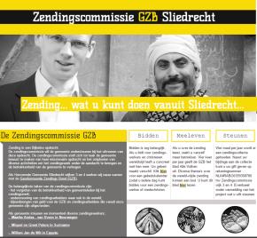 De zendingscommissie in Sliedrecht heeft een eigenwebsite
