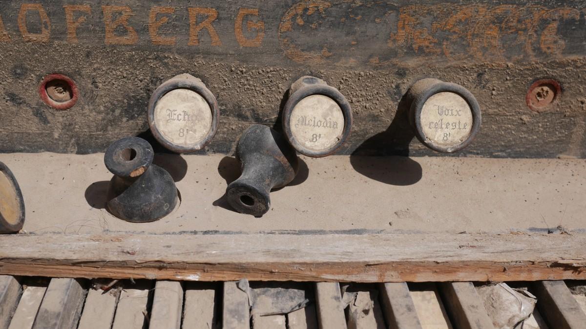 Verstofte orgelklanken