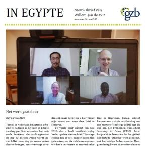 """Nieuwsbrief """"In Egypte"""" mei2021"""